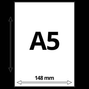 A5 formaat afmetingen