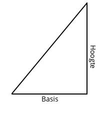 oppervlakte driehoek berekenen